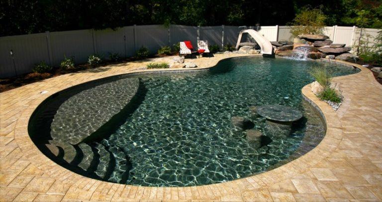 Custom Concrete Pool Design in Salisbury