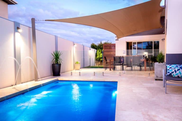 Modern swimming pool installation.